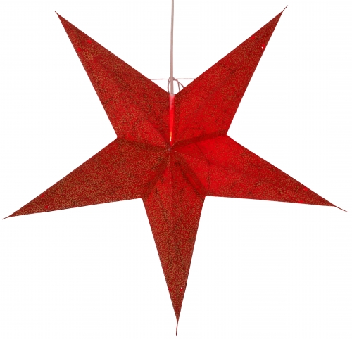 Foldable Advent illuminated paper star, Poinsettia 60 cm - Abacus red