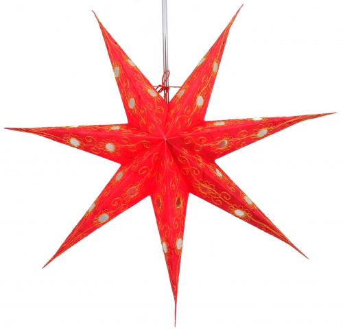 Foldable Advent illuminated paper star, Poinsettia 60 cm - Agamemnon