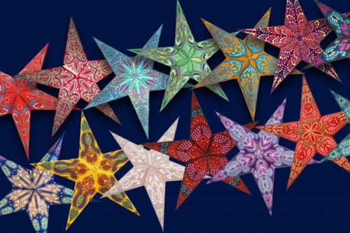 Multicoloured Paper Stars