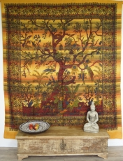 wall hanging, bedspread arbor vitae/tree of life - yellow