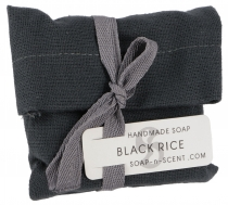 Handmade scented soap in cotton bag, 100 g Fair Trade - Black Ric..