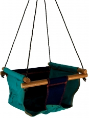 Baby and toddler hanging seat, swing seat - blue