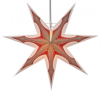 Foldable Advent illuminated paper star, Poinsettia 60 cm - Atlant..