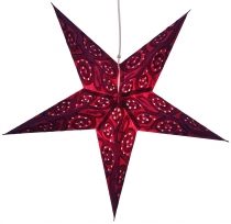 Foldable Advent illuminated paper star, Poinsettia 60 cm - Artemi..
