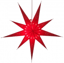 Foldable Advent illuminated paper star, Poinsettia 80 cm - Fiore ..