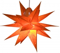 Foldable Advent Light Paper Star, 3D Christmas Star - Multipointe..