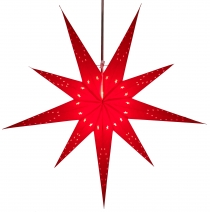 Foldable Advent illuminated paper star, Poinsettia 80 cm - Lyra b..