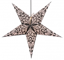 Foldable Advent illuminated paper star, Poinsettia 60 cm - Andel ..