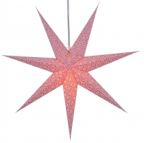 Foldable Advent illuminated paper star, poinsettia 80 cm - Simena