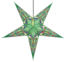Foldable Advent illuminated paper star, Poinsettia 60 cm - Alaska..