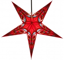 Foldable Advent illuminated paper star, Poinsettia 60 cm - Calu