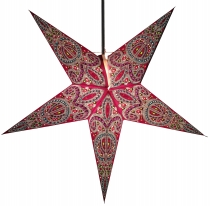 Foldable Advent illuminated paper star, Poinsettia 60 cm - Calea ..