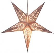 Foldable Advent illuminated paper star, poinsettia 40 cm - Mansur..