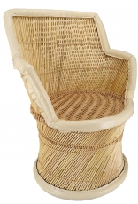Basket chair made of reed wickerwork - Model 1