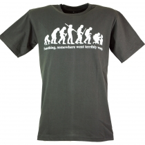 Fun T-Shirt `Evolution` - grey