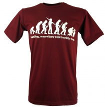 Fun T-Shirt `Evolution` - red