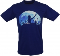 Fun T-Shirt `Fullmoon Party` - blue