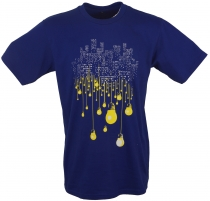 Fun T-Shirt `Big City` - blue