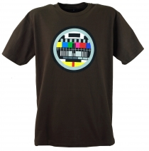 Fun T-Shirt `Test pattern` - brown