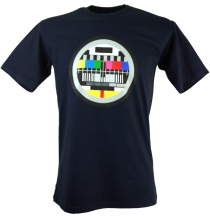 Fun T-Shirt `Test pattern` - dark blue