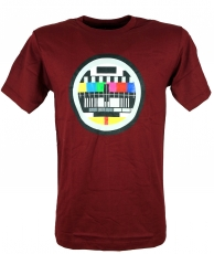 Fun T-Shirt `Test pattern` - dark red
