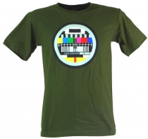 Fun T-Shirt `Test pattern` - green