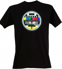 Fun T-Shirt `Test pattern` - black