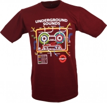 Fun T-Shirt `Underground Sound` - red