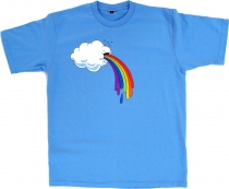 Fun T-Shirt `Cloud` - blue