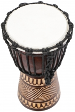 wooden drum, percussion rhythm sound instrument, (Djembe) with ca..
