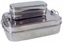 Stainless steel lunch box, breakfast box, lunch box, snack box 2è..