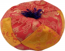 singing bowls cushion - red/orange