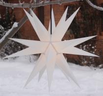 LED Melchior Outdoor II White, 3D outdoor star Ø 60 cm, with 20 t..