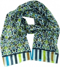 Light scarf, colorful cotton cloth from India - lemon
