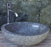 Solid oval marble top mounted washbasin, washbasin bowl, natural ..