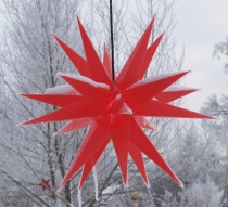 Melchior Outdoor II red, very stable 3D outdoor star Ø 60 cm, wit..
