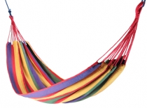 Outdoor hammock, 200x150 cm, 1-2 persons - multicolour