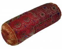 Patchwork bolster, sofa cushion 50 cm - red