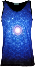 Psytrance Tank Top, Men Top - Flower of Life