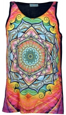 Psytrance Tank Top, Men Top - Lotus Mandala