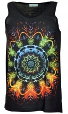 Psytrance Tank Top, Men Top - Rainbow Mandala
