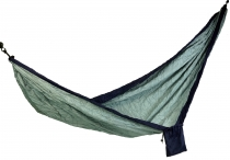Travel hammocks made of parachute fabric - blue/grey