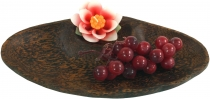 Coconut wood bowl, coconut shell shell - Design 3