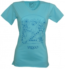 star sign T-Shirt `Virgin` - turquoise