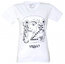 Zodiac sign T-Shirt `Virgo` - white