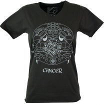 Zodiac sign T-Shirt `Cancer` - black