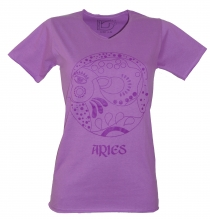 star sign T-Shirt `Aries` - purple