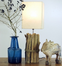 Table lamp/table lamp, handmade in Bali from natural material, dr..