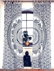 Boho Vorhänge, Gardine (1 Paar ) mit Schlaufen ...