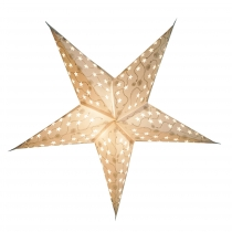 Foldable Advent Starlight Paper Star, Christmas Star Luna - white